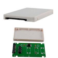 """New mSATA Mini PCI-E SSD to 2.5"""" SATA Adapter Case 7mm Slim Solid State Drive"""
