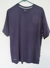 Men's Nike Dri-Fit Athletic T-Shirt Short Sleeve Crew Neck Dark Purple Sz Large