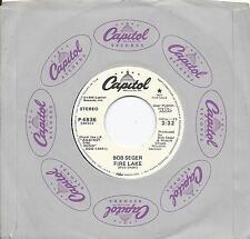 stone mint * BOB SEGER * 45 * Fire Lake * 1980 MINT UNPLAYED! White Lbl DJ PROMO