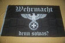 Gott mit uns  Eichenlaub DR Fahne Flagge Hissfahne 150 x 90 cm