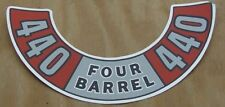 Mopar NEW 440 Four Barrel Air Cleaner Decal DD0041