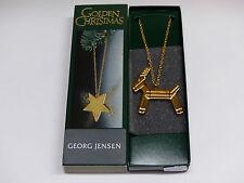 Georg Jensen Ornament an Kette GOLD 1993 Bock 3405014 OVP