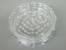 """2 3/4"""" CLEAR Plastic 2 Piece Tobacco, Herb, Spice Grinder (Made in the USA)"""