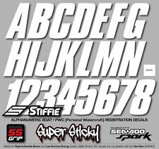 STIFFIE Shift SH03-SS White Boat PWC ID Numbers Decals Registration SeaDoo Spark