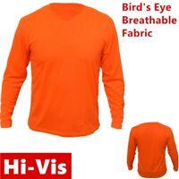 Hi Vis High Visibility T Shirt Non ANSI Long Sleeve Safety Work Orange Tee Shirt