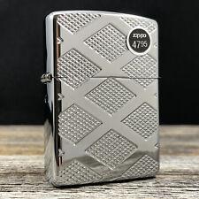 2014 Zippo Lighter - Armor - Carved Chrome Diamond - High Polish Chrome - NIB