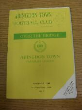 23/09/1989 Abingdon Town v Bracknell Town  .  Thanks for viewing our item, we tr