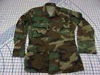 USARMY Military Woodland Camo Coat Shirt Jacket TOP SMALL REGULAR WINTER BDU EUC