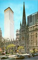 1970s World Trade Center Twin Towers Trinity Church Chrome NYC Postcard AI