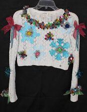 Deb Rottum's ** Tacky Ugly Christmas Sweater Girls  Size M Short Hanukkah