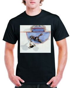 Canucks Pavel Bure vs Rangers Mike Richter  Print T-Shirt 100% Cotton XL