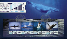 Niue 2016 FDC Humpback Whales 4v M/S Cover Marine Mammals Animals Whale Stamps