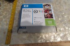 HP VIVERA 02 series HP Photo Value Pack: 6  HP inks + 150 Photo Paper 09/2010