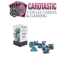 Steel-teal With White Gemini Polyhedral 7-die Set Chessex Chx26456