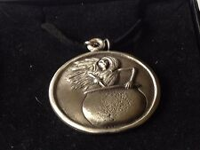 """Baba Yaga dr108 the wise ol  Made From English Pewter On 18"""" Black Cord Necklace"""