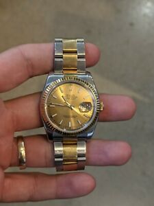 Rolex Datejust 36mm 116233 Stainless/Yellow Gold with Champagne Index Dial Watch