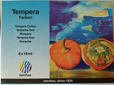Tempera Farben Set 6 Tuben á  19 ml Malfarben Farbtuben