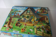 PLAYMOBIL 4207 ANIMAL RESCUE FOREST CABIN complete