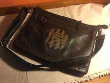 Nancybird leather bag big postal satchel Uncle Ned dark brown cotton Nancy Bird