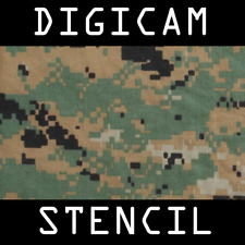 Digital Camouflage Stencil -Reusable A4- 3 Sheets - Tactical Military Army Gun