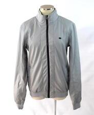 Mens PULL & BEAR Soft Cement Faux Leather Moto Zip Cafe Racer Biker Jacket M