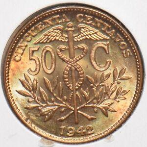 Bolivia 1942 50 Centavos 295782 combine shipping