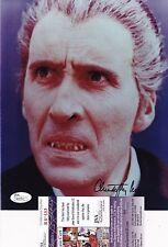 Christopher Lee Dracula Hammer Films Signed 8x10 Photo JSA Certified B