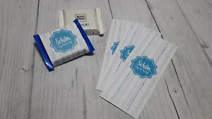 50 x Banderole Schokolade Taufe blau - Gastgeschenk Giveaway Geburtstag Hochzeit