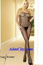 Seamless Spaghetti Strapped Fishnet Bodystocking with Convenience Crotch