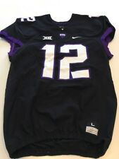 Game Worn Used Nike TCU Horned Frogs Football Jersey #12 Size L