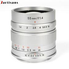7artisans 55mm F1.4 Prime Focus Lens for Sony E Canon EF-M Fuji X M43 MFT Camera