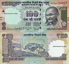 INDIA 2016 Star Replacement Bank Note 100 RS Novel Number L Inset Rajan UNC NEW