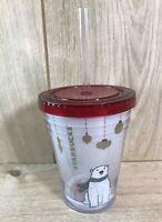 Starbucks Polar Bear Cold Cup Mug Travel Tumbler Christmas Design - Brand New