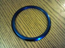 "Blue Aluminum Gauge Bezel 3 3/4 Inch 3 3/4"" ID 4 1/2"" OD Boat Hot Rod Speedo"