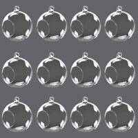 Set of 12 Round Globe Ball Hanging Vase Glass Air Plant Terrarium  Candle Holder