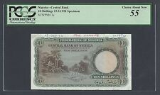 Nigeria 10 Shillings 15-9-1958 P3s Specimen About Uncirculated