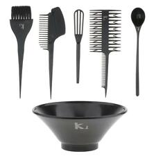 6x Hair Color Dye Tool Set Bowl Highlight Comb Brush Tint Coloring Kit Black