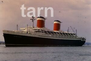 35mm slide Shipping scene Cruise ship United States Southampton 1960s r174