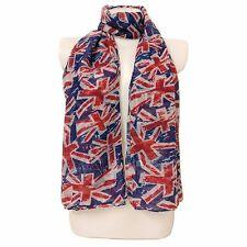 Union Jack London Souvenir Moda Stampa Bandiera UK Maxi Sciarpa Sarong-Royal Blu//RD