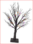 FUNPENY 24LED Lighted Black Birch Spooky Tree, 2FT Halloween Battery Operated &