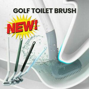 Golf Toilet Brush Long-Handled Toilet Brush Wall-Mounted Silicone Toilets Brush