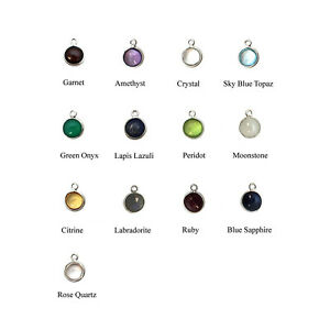 Sterling Silver Bezel Charm Pendant-Natural Amethyst-Tiny Round Shape (1 pc)
