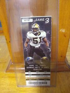 MATTHEW STAFFORD NFL DEBUT FULL TICKET 2009 SAINTS DETROIT LIONS RARE 9/13/09