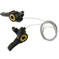 2pcs Thumb Bike Shifters Shift Levers 3 x 5/6/7 Speed Friction Trigger Cable