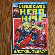 Luke Cage, Hero for Hire #1 (Jun 1972, Marvel) Sensational Origin Issue!