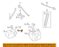 GM OEM Wiper Washer-Windshield-Nozzle 22072439