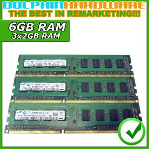 ✅ 6GB (3x2GB) DDR3 RAM Samsung M378B5773CH0-CH9 1Rx8 PC3-10600U-09-10-A0 (RA402)