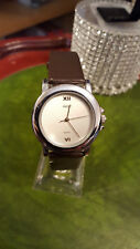ladies ascot casual silver watch,brown strap silver dial nice watch.#b1+.