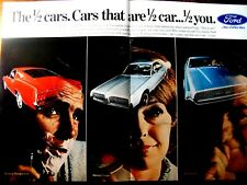 "1967 Ford Mustang Fastback 2+2-Cougar-Thunderbird Original Print Ad-8.5 x 11"""