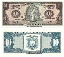 Ecuador 10 sucres 1988 P-121 Billetes Unc